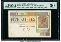 India Government of India 5 Rupees ND (1917-30) Pick 4c Jhun3.4.2 PMG Very Fine 30. Minor rust.  HID09801242017  © 2020 Heritage Auctions | All Rights...