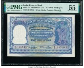 India Reserve Bank of India 100 Rupees ND (1950) Pick 41a Jhun6.7.1.1 PMG About Uncirculated 55. Staple holes at issue.  HID09801242017  © 2020 Herita...