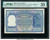 India Reserve Bank of India 100 Rupees ND (1951) Pick 42a Jhun6.7.2.1A PMG Choice Very Fine 35. Staple holes at issue; annotation.  HID09801242017  © ...
