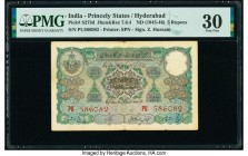 India Princely States, Hyderabad 5 Rupees ND (1945-46) Pick S273d Jhunjhunwalla-Razack 7.6.4 PMG Very Fine 30. Staple holes at issue.  HID09801242017 ...