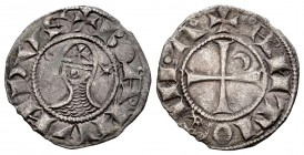 Cruzadas. Bohemond III. Dinero. (1163-1188). Antioquía. (Metcalf-366). Ve. 0,83 g. EBC-. Est...50,00. /// ENGLISH: Crusaders. Bohemond III. Dinero. (1...