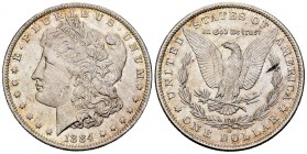 Estados Unidos. 1 dollar. 1884. Nueva Orleans. O. (Km-110). Ag. 26,76 g. Brillo original. EBC+. Est...40,00. /// ENGLISH: United States. 1 dollar. 188...