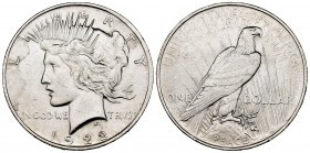 Estados Unidos. 1 dollar. 1922. (Km-150). Ag. 26,65 g. EBC+. Est...30,00. /// ENGLISH: United States. 1 dollar. 1922. (Km-150). Ag. 26,65 g. AU. Est.....
