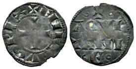 Francia. Henry II. Denier. (1154-1189). Burdeos. (Elias-1). Rev.: AQVI / TANI / E. Ve. 0,79 g. Escasa. MBC-. Est...50,00. /// ENGLISH: France. Henry I...