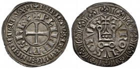 Francia. Philip III (1270-1285). Gros. Tournai. (Duplessy-202). Rev.: TVRONVS CIVIS. Castillo de Tournai. Ve. 4,07 g. EBC. Est...90,00. /// ENGLISH: F...