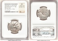 MACEDONIAN KINGDOM. Alexander III the Great (336-323 BC). AR tetradrachm (26mm, 17.12 gm, 3h). NGC AU 5/5 - 5/5. Lifetime issue of Tarsus, ca. 327-323...