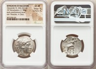 MACEDONIAN KINGDOM. Alexander III the Great (336-323 BC). AR tetradrachm (25mm, 17.04 gm, 12h). NGC Choice XF 5/5 - 4/5. Early posthumous issue of Bab...