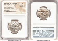 MACEDONIAN KINGDOM. Alexander III the Great (336-323 BC). AR tetradrachm (25mm, 17.12 gm, 3h). NGC XF 5/5 - 4/5. Posthumous issue of 'Babylon', under ...