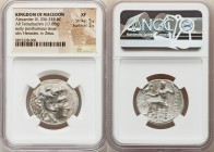 MACEDONIAN KINGDOM. Alexander III the Great (336-323 BC). AR tetradrachm (26mm, 17.08 gm, 1h). NGC XF 5/5 - 3/5. Posthumous issue of Babylon I, under ...