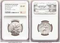 MACEDONIAN KINGDOM. Alexander III the Great (336-323 BC). AR tetradrachm (27mm, 12h). NGC Choice VF. Lifetime issue of Sidon, under Menon. dated Regna...