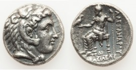 MACEDONIAN KINGDOM. Alexander III the Great (336-323 BC). AR tetradrachm (25mm, 16.86 gm, 11h). VF. Late lifetime or early posthumous issue of uncerta...