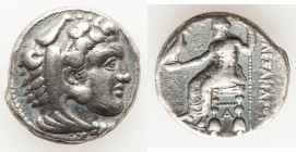 MACEDONIAN KINGDOM. Alexander III the Great (336-323 BC). AR tetradrachm (25mm, 16.98 gm, 1h). Choice Fine. Lifetime issue of Tarsus, ca. 333-327 BC. ...