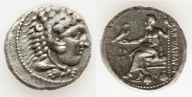 MACEDONIAN KINGDOM. Alexander III the Great (336-323 BC). AR tetradrachm (27mm, 16.76 gm, 5h). About XF. Early posthumous issue of Tyre, dated Regnal ...