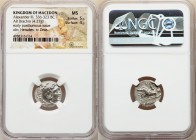 MACEDONIAN KINGDOM. Alexander III the Great (336-323 BC). AR drachm (17mm, 4.27 gm, 2h). NGC MS 5/5 - 4/5. Posthumous issue of Mylasa, ca. 310-300 BC....
