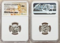 MACEDONIAN KINGDOM. Alexander III the Great (336-323 BC). AR drachm (18mm, 11h). NGC AU. Posthumous issue of 'Colophon', ca. 319-310 BC. Head of Herac...