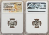 MACEDONIAN KINGDOM. Alexander III the Great (336-323 BC). AR drachm (17mm, 12h). NGC Choice XF. Posthumous issue of Colophon, ca. 319-310 BC. Head of ...