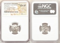 MACEDONIAN KINGDOM. Alexander III the Great (336-323 BC). AR drachm (17mm, 11h). NGC Choice VF. Posthumous issue of Abydus, ca. 310-301 BC. Head of He...