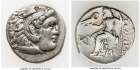 MACEDONIAN KINGDOM. Alexander III the Great (336-323 BC). AR drachm (17mm, 4.09 gm, 12h). VF. Posthumous issue of Lampsacus, ca. 310-301 BC. Head of H...