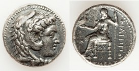 MACEDONIAN KINGDOM. Philip III Arrhidaeus (323-317 BC). AR tetradrachm (21mm, 16.78 gm, 2h). VF. Babylon. Head of Heracles right, wearing lion skin he...