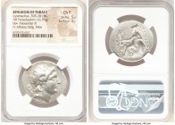 THRACIAN KINGDOM. Lysimachus (305-281 BC). AR tetradrachm (31mm, 16.76 gm, 5h). NGC Choice Fine 5/5 - 3/5. Posthumous issue of Lysimachia, ca. after 2...