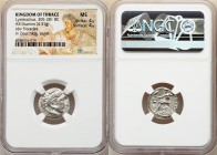 THRACIAN KINGDOM. Lysimachus (305-281 BC). AR drachm (17mm, 4.31 gm, 12h). NGC MS 4/5 - 4/5. Posthumous issue of Colophon, under Lysimachus of Thrace,...