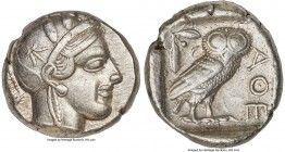 ATTICA. Athens. Ca. 440-404 BC. AR tetradrachm (25mm, 17.16 gm, 5h). XF. Mid-mass coinage issue. Head of Athena right, wearing crested Attic helmet or...