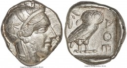 ATTICA. Athens. Ca. 440-404 BC. AR tetradrachm (26mm, 17.15 gm, 7h). VF. Mid-mass coinage issue. Head of Athena right, wearing crested Attic helmet or...