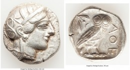 ATTICA. Athens. Ca. 440-404 BC. AR tetradrachm (26mm, 17.14 gm, 8h). XF, scratches. Mid-mass coinage issue. Head of Athena right, wearing crested Atti...
