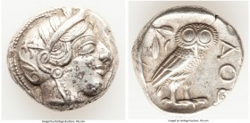 ATTICA. Athens. Ca. 440-404 BC. AR tetradrachm (24mm, 17.15 gm, 9h). VF. Mid-mass coinage issue. Head of Athena right, wearing crested Attic helmet or...