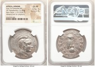 ATTICA. Athens. Ca. 2nd-1st centuries BC. AR tetradrachm (35mm, 16.86 gm, 12h). NGC Choice XF 5/5 - 4/5. New Style issue, 151/0 BC. Head of Athena rig...