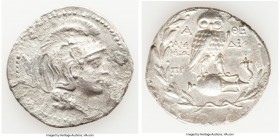 ATTICA. Athens. 2nd-1st centuries BC. AR tetradrachm (33mm, 15.49 gm, 1h). Choice Fine. New Style coinage, 150-149 BC, Am-, Dio-, Mo-. Head of Athena ...