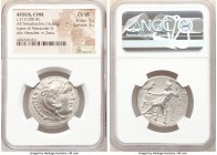 AEOLIS. Cyme. Ca. 215-200 BC. AR tetradrachm (30mm, 16.62 gm, 1h). NGC Choice VF 5/5 - 3/5. Posthumous issue in the name and types of Alexander III th...