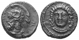 CILICIA. Tarsus. Pharnabazus, as Satrap (ca. 380-374/3 BC). AR stater. Ca. 380-379 BC. Head of female (Arethusa?) facing, turned slightly left, hair i...
