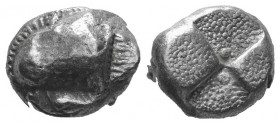 Paphlagonia, Sinope. Drachm circa 490-425, AR. Sylized head of sea eagle l. Rev. Double incuse squares. Dewing 2128. SNG Copenhagen 272. SNG Black Sea...