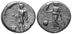 PAMPHYLIA. Side. Circa 360-333 BC. Stater  Condition: Very Fine  Weight: 10.20 gr Diameter: 22 mm