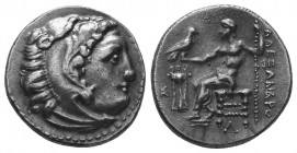 MACEDONIAN KINGDOM. Alexander III the Great (336-323 BC). AR Drachm  Condition: Very Fine  Weight: 4.10 gr Diameter: 18 mm