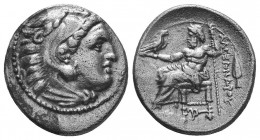 MACEDONIAN KINGDOM. Alexander III the Great (336-323 BC). AR Drachm  Condition: Very Fine  Weight: 4.10 gr Diameter: 17 mm