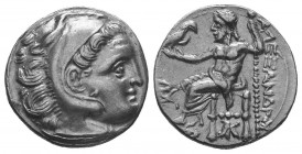 MACEDONIAN KINGDOM. Alexander III the Great (336-323 BC). AR Drachm  Condition: Very Fine  Weight: 4.20 gr Diameter: 17 mm