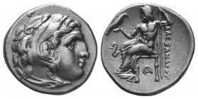 MACEDONIAN KINGDOM. Alexander III the Great (336-323 BC). AR Drachm  Condition: Very Fine  Weight: 4.20 gr Diameter: 18 mm