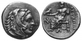 MACEDONIAN KINGDOM. Alexander III the Great (336-323 BC). AR Drachm  Condition: Very Fine  Weight: 4.00 gr Diameter: 17 mm