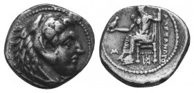 MACEDONIAN KINGDOM. Alexander III the Great (336-323 BC). AR Drachm  Condition: Very Fine  Weight: 2.00 gr Diameter: 12 mm