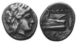 BITHYNIA. Cius. Ca. 350-300 BC. AR hemidrachm  Condition: Very Fine  Weight: 2.40 gr Diameter: 14 mm