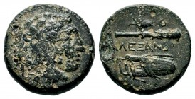 "Kings of Macedon. Alexander III. ""the Great"" (336-323 BC). Ae  Weight: 6,56 gr Diameter: 18,70 mm"