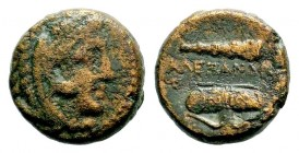 Kingdom of Macedon, Alexander III 'The Great' (336-323 B.C.). AE  Weight: 5,85 gr Diameter: 17,35 mm