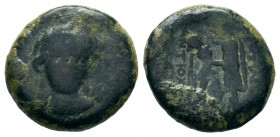 Seleukid Empire, Antiochos I Soter Æ23. Seleukia on the Tigris, 281-261 BC.  Weight: 4,06 gr Diameter: 17,00 mm