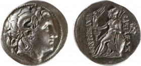 KINGS OF THRACE (Macedonian). Lysimachos (305-281 BC). Tetradrachm. Amphipolis. Obv: Diademed head of the deified Alexander right, wearing horn of Amm...
