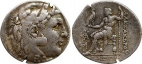 KINGS OF MACEDON. Alexander III 'the Great' (336-323 BC). Tetradrachm. Magnesia. Obv: Head of Herakles right, wearing lion skin. Rev: AΛEΞANΔPOY. Zeus...