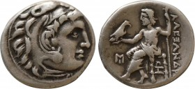 KINGS OF MACEDON. Alexander III 'the Great' (336-323 BC). Drachm. Abydos. Obv: Head of Herakles right, wearing lion skin. Rev: AΛEΞANΔPOY. Zeus seated...