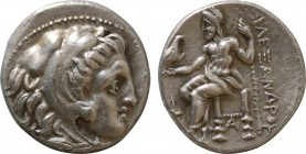 KINGS of MACEDON. Alexander III 'the Great' (336-323 BC). Drachm (323-319 BC). Sardes. Obv: Head of Herakles right, wearing lion skin.. Rev: AΛEΞANΔPO...