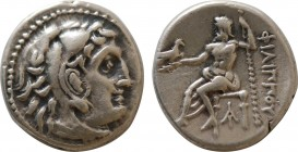 KINGS OF MACEDON. Philip III Arrhidaios (323-317 BC). Drachm. Magnesia ad Maeandrum. Obv: Head of Herakles right, wearing lion skin. Rev: ΦIΛIΠΠOY. Ze...